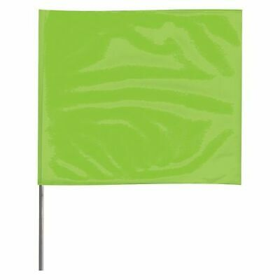 ZORO SELECT 4515LG-200 Marking Flag,Fluor Lime,Vinyl,PK100