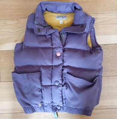GIRLS LITTLE JOULES LILAC POLYESTER/COTTON PADDED BODY WARMER, SIZE 8 YEARS w)