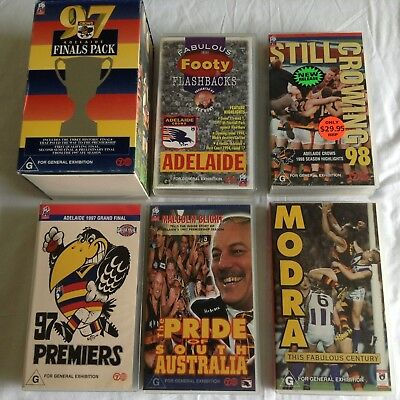 6 ADELAIDE CROWS VHS VIDEOS Bulk Lot!