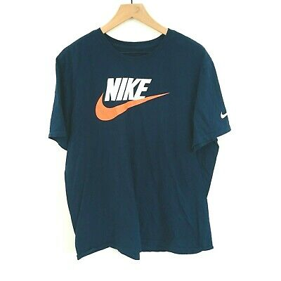 Details about Nike Air Max Mens Athletic White Swoosh Blue T Shirt 809247 423