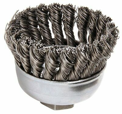 WEILER 94084 Knot Wire Cup Wire Brush, Threaded Arbor