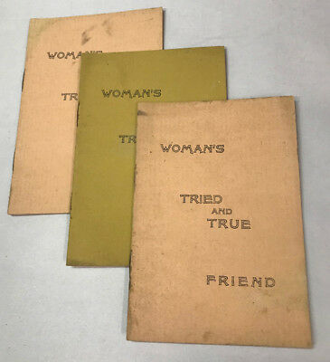 Woman's Tried & True Friend, Quack Medicine Testimonial Booklets (3) Caulocorea