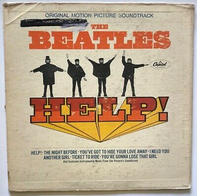 The Beatles - HELP! - 1965 - Vinyl Record LP Gatefold - FIRST PRESS MONO