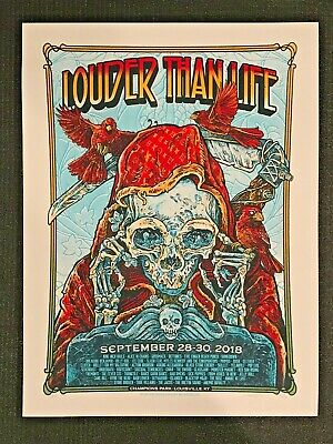 Louder Than Life Concert Poster - Louisville, Ky - Champions Park - 2018 - Nin