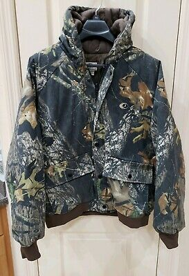 b74a17e76b463 MOSSY OAK Break-Up Camo Camouflage Full Zip Lined Hood Parka Jacket Men's  XL VGC