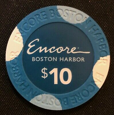 New Rare $10 Encore Boston Harbor Casino Grand Opening Gaming Poker Room Chips