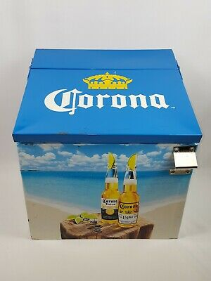 Corona Light Extra Beer Metal Cooler Vintage Ice Chest Bottle Opener Mexico