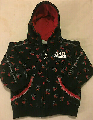 Little Boys Sz 3T Toddler Black Air Jordan Full Zip Sweatshirt Hoodie Jacket