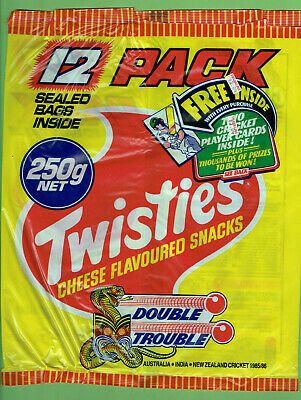 #T119.   Twisties Packet - 1985 / 86 Double Trouble Cricket Cards Advertisement
