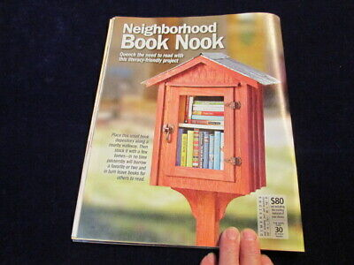 How to Build Neighborhood Free Little Library Book Plan in Woodworking Mag. AE5