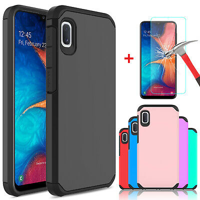 For Samsung Galaxy A10e Shockproof Case Cover Armor With Glass Screen Protector