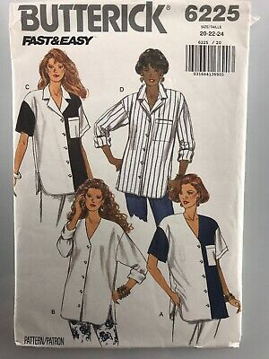 Shorts Sewing Pattern Butterick 6225 Tops Size 14-22 Pants Misses Nightgown