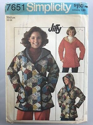 Simplicity Sewing Pattern Uncut 7651 Misses' Jiffy Unlined Hooded Jacket