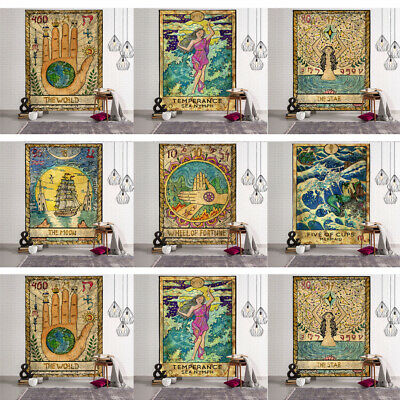 Tarot Card Tapestry Wall Hanging Astrology Divination Bedspread Yoga Beach Mats