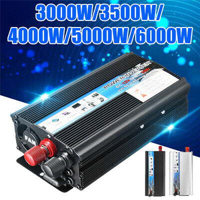 3500/4000/5000/6000W Solar Power Inverter DC 12V to AC 220V Sine Wave Converter