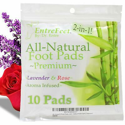 Dr. Entre's 2-in-1 Foot Pads Impurity Removal Pain Relief Sleep Aid 10 Pack