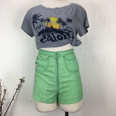 Vintage 60s Mint Green Shorts Put-Ons by Ruth Eib