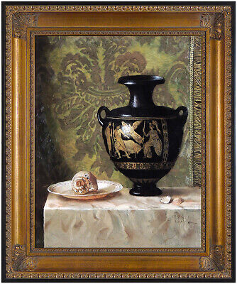 Jie Wei Zhou Original Oil Painting on Canvas Signed Chinese Still Life Artwork