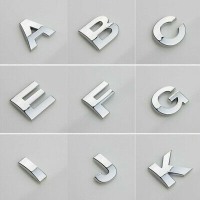 A-Z Alphabet Letters Numbers Car Sticker Self Adhesive Auto Badge Emblem
