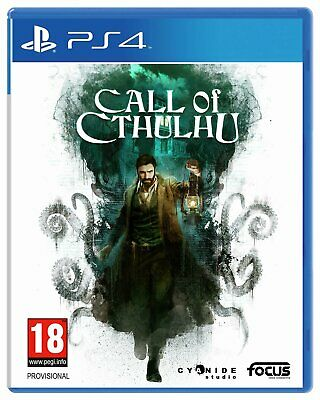 Call of Cthulhu Sony Playstation PS4 Game 18+ Years