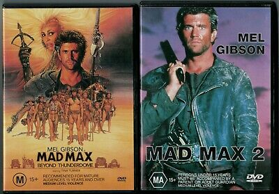 2 MAD MAX DVD'S - MAD MAX BEYOND THUNDERDOME & MAD MAX 2 Mel Gibson
