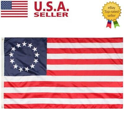 3x5 FT BETSY ROSS Flag 13 Star USA Historic US American Flag USA SELLER FAST
