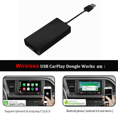 1x Wireless USB Smart Link Apple Carplay Dongle For Android Car DVD Radio Player