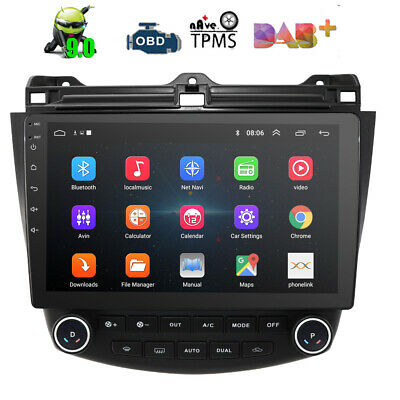 "10.1"" Android 9.0 Car GPS Stereo Radio For Honda Accord 2003 2004 2005 2006 2007"