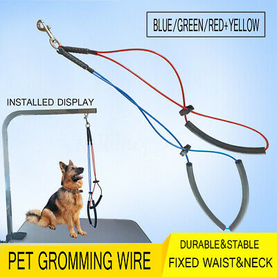Duoble Pet Dog Cat Grooming Table Arm Wire Rope Cable Restraint Holder Noose