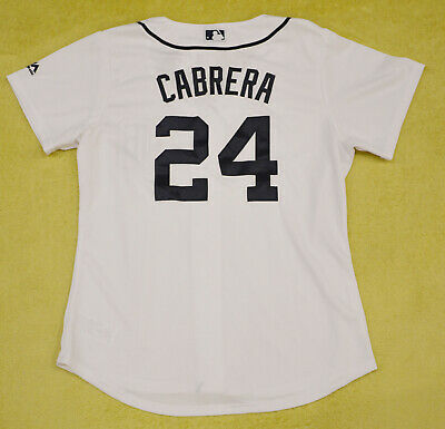 Women's Miguel Cabrera Detroit Tigers MLB Majestic white jersey size MEDIUM
