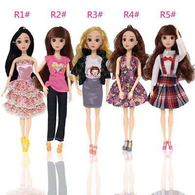 Dresses Pants Skirts Outfit for Barbie Doll Fashion Party Dresses Clothes Gift