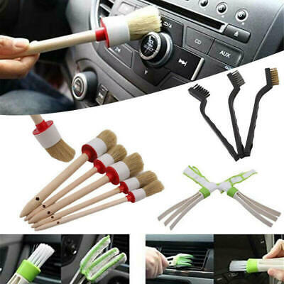11pcs/set Car Detailing Brush Kit Boar Hair Vehicle Interior For Wheel Clean ghj