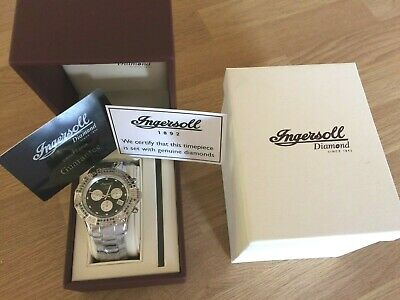 Ingersoll New Gents Diamond Set Chronograph Watch Ltd Edition Of 150 Rrp £695