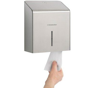Kimberly Clark 8974 Stainless Steel Mini Jumbo Toilet Roll Dispenser M4GGY#
