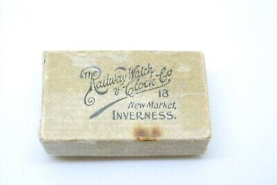 VINTAGE ANTIQUE CARDBOARD Watch Box The Railway Watch & Clock Co Inverness