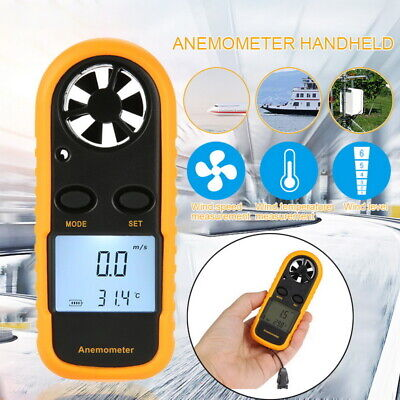 Digital LCD Handheld Anemometer Wind Speed Meter Velocity Thermometer Sailing IN