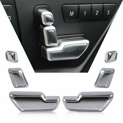 Chrome Seat Adjust Button Switch Cover For Mercedes Benz W204 W205 W212 W218