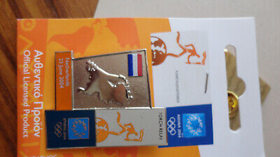 BBC SPORT TV Official 'ATHENS 2004' Olympic Games Pin Badge Pins