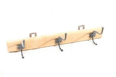 Old Hook Rail Wood Cult Retro Wardrobe Wooden Trim with Hooks Old