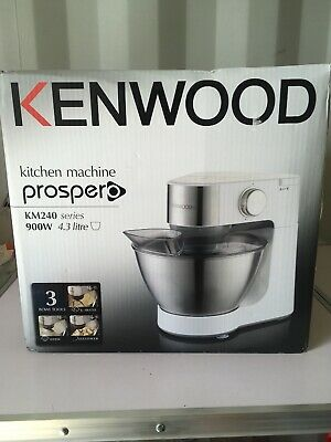 Kenwood KM240SI 900W Stand Mixer with 4.3L Stainless Steel Bowl & 3 Attachments
