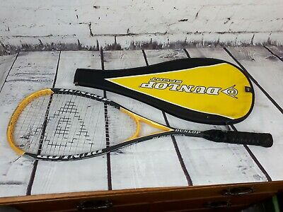 """""""DUNLOP - BLACK MAX WITH COVER """"Squash Racket - (See Photos )"""