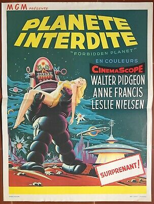 Affiche Belge PLANETE INTERDITE Forbidden Planet FRED M. WILCOX Science-Fiction