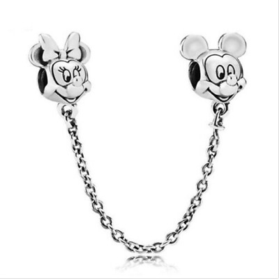 Silver Minnie Mickey European Charm Pendant Beads Fit 925 Necklace Bracelet !!