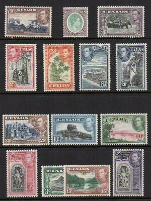 CEYLON  1938-49  Set of 14  M.Mint with Gum Excellent Looking  No Hidden Faults