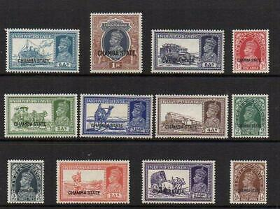 CHAMBA 1938  12 Overprints  M.Mint with Gum Excellent Looking  No Hidden Faults