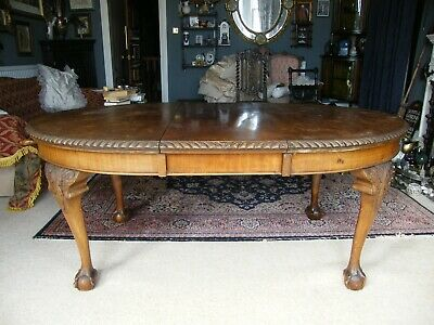 Antique-Regency Large Extendable Dining Table With Serpent Claw&Ball Feet-c1830