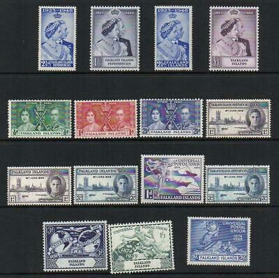 FALKLANDS 1937-49    6 SETS  M.Mint with Gum Excellent Looking  No Hidden Faults