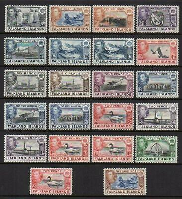 FALKLANDS 1938-50  Set of 22 M.Mint with Gum Excellent Looking  No Hidden Faults