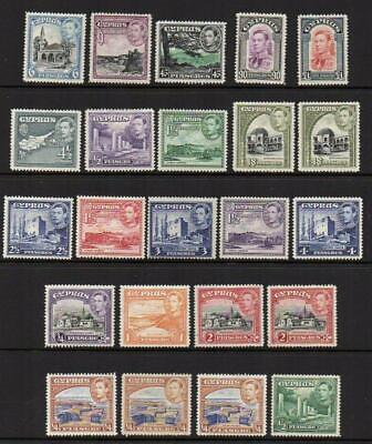 CYPRUS 1938-51 See 23 Stamps M.Mint with Gum Excellent Looking  No Hidden Faults