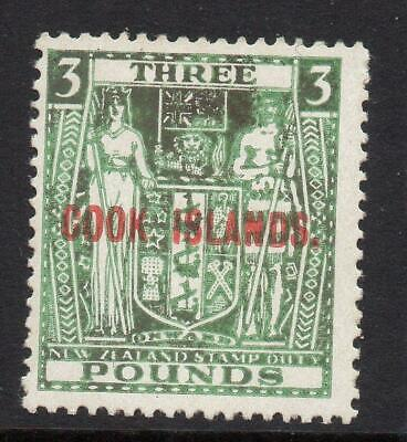 COOK ISLANDS 1936-44  £3  SG 123b   M.Mint  Excellent Looking No Hidden Faults